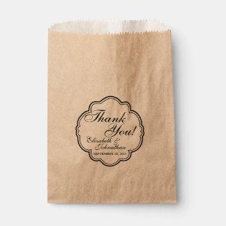 Thank You Wedding Favor Candy Bar Buffet Bags