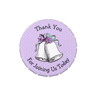 Thank You Wedding Favor Candy Tins