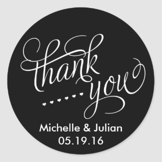 Thank You Wedding Favor Sticker