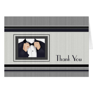 Thank You Wedding Party Grooms Side Card