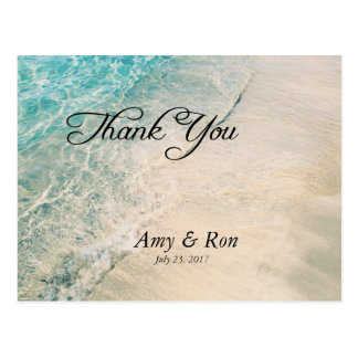 Thank You wedding Postcard Beach Theme