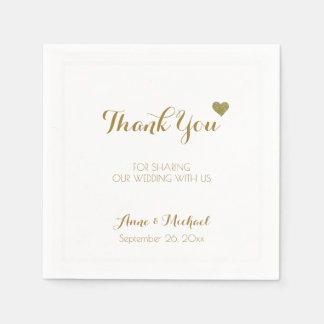 thank-you wedding reception party paper napkins