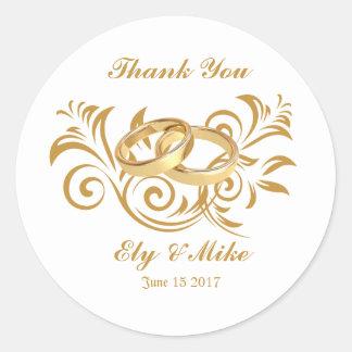 Thank You Wedding Round Sticker