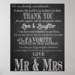 Thank you wedding sign Black & White chalkboard