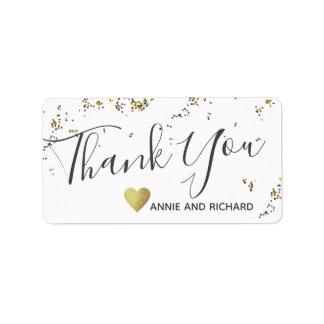 thank you wedding sticker / love & thanks