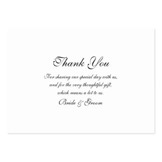 Thank you wedding template large business card