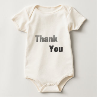 Thank-You-(White) Rompers