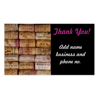 Thank You Wine Cork Business Business Card Template