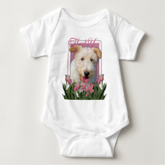 Thank You - Wire Fox Terrier - Hailey Baby Bodysuit