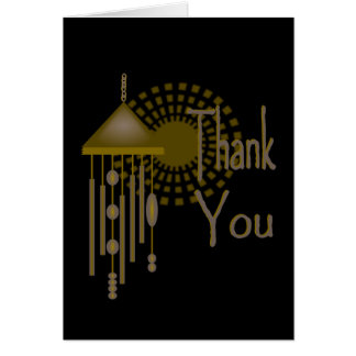 Thank You With Bronze Wind Chime & Sunburst Card