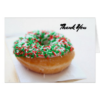 Thank you with Donut picture Card