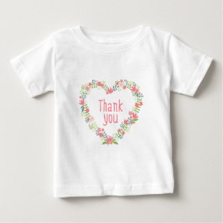 thank you with floral heart wreath shirt