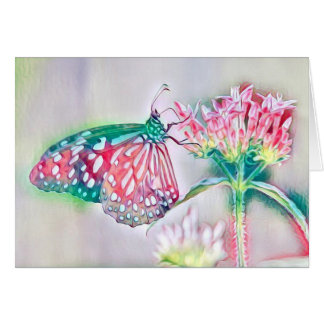Thank You with Flowers and Butterfly Card