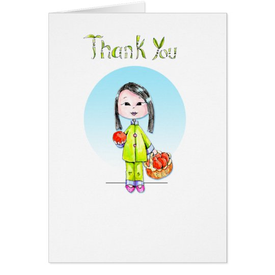Thank You with Good Luck - long hair Card