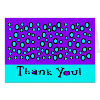 Thank You With Random Outlined Circles Card