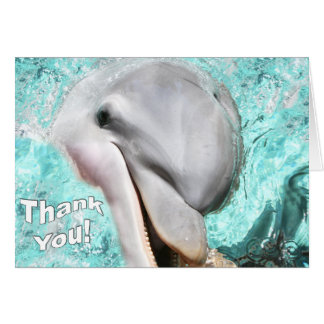 Thank You With Smiling Dolphin Card