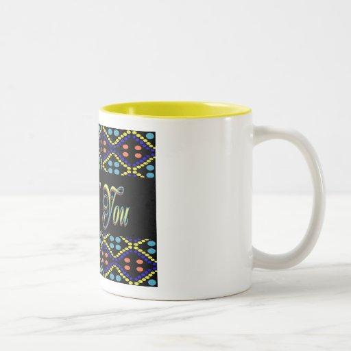 Thank You yellow black Mugs
