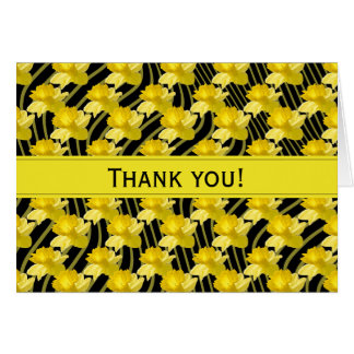 """Thank You"" Yellow Daffodil Floral Photography Card"