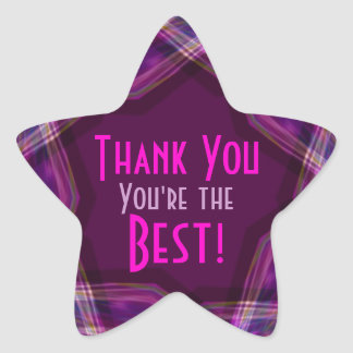 Thank You- You're the Best Star Sticker
