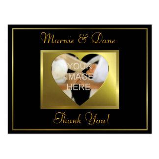 Thank Your Postcard  Golden Black Collection Postcard