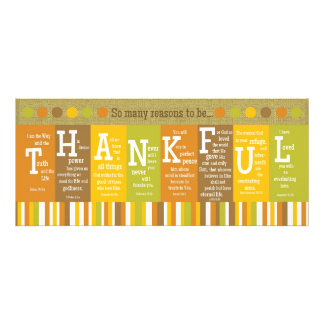 THANKFUL 2-Sided Scripture Verse Thanksgiving Card Custom Invites