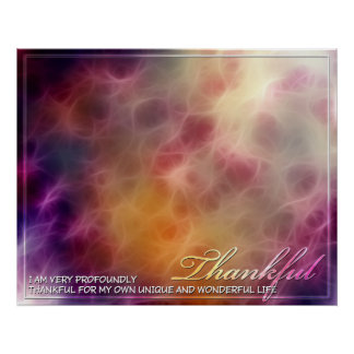 Thankful Abstract Energy Poster