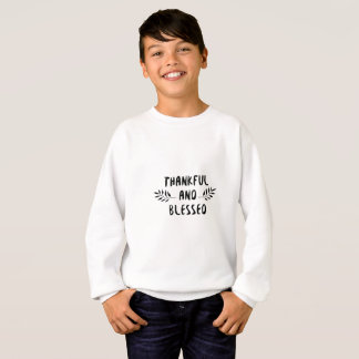 Thankful And Blessed Fall Thanksgiving Day Sweatshirt