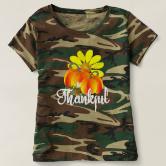 Thankful Autumn Fall Pumpkins Graphic T-shirt