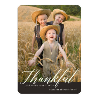 Thankful Autumn Seasonal Photo Greeting Card
