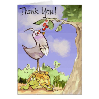 Thankful bird and turtle pal card