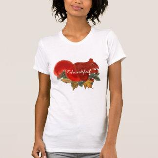 Thankful Fall Rustic Cute Red Squirrel T-Shirt