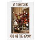 "THANKFUL FOR ""YOU"" AT THANKSGIVING (AND ALL YEAR) CARD"