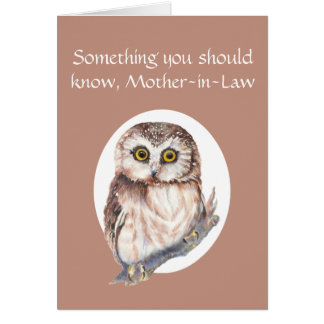 Thankful for You Mother-in-Law Mother's Day Owl Card
