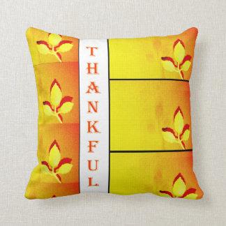 Thankful Golden leaves pillow