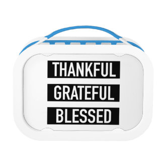 Thankful Grateful Blessed Lunch Box