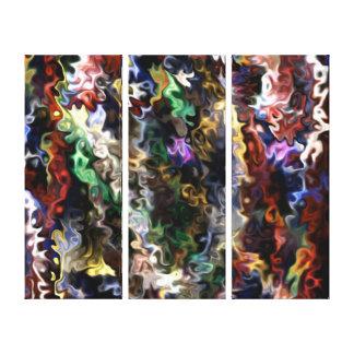 Thankful, Happy, Good 44.41 colorful Canvas Print