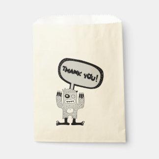 Thankful Monster Favor Bag