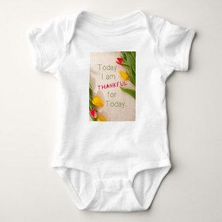 Thankful Motivational Qoutes Baby Bodysuit