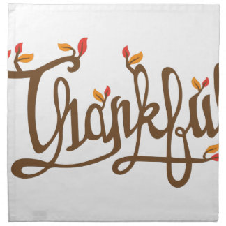 Thankful Printed Napkins