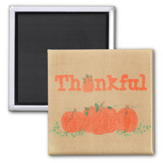 Thankful - Pumpkin Thanksgiving Magnet