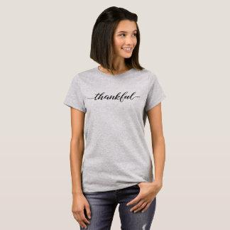Thankful Script, Black type T-Shirt