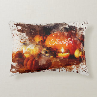 """""""Thankful"""" Thanksgiving Decorative Accent Pillow"""