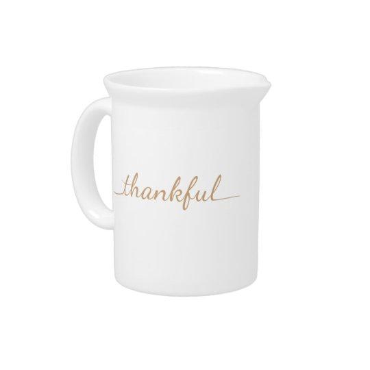 Thankful Thanksgiving design Pitcher