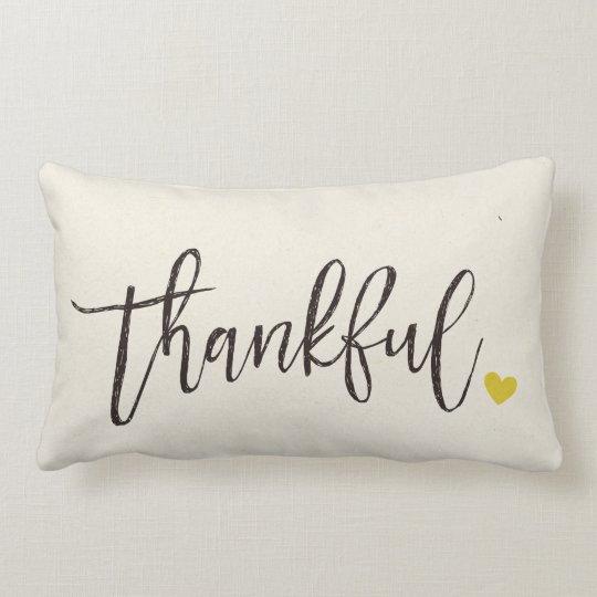 Thankful, Thanksgiving Gift-2 Lumbar Pillow