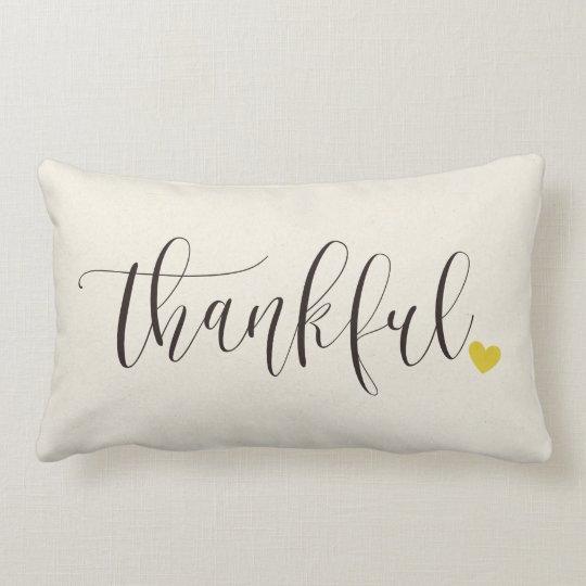 Thankful, Thanksgiving Gift Lumbar Pillow
