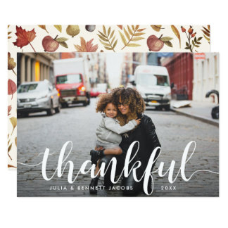 Thankful | Thanksgiving Photo Card