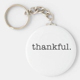 Thankful Typography Keychain