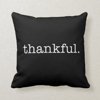 Thankful Typography Throw Pillow