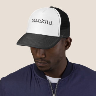 Thankful Typography Trucker Hat