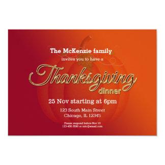 Thankgiving dinner card